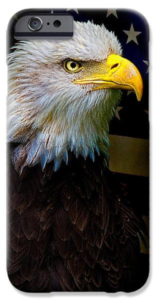 Eagle iPhone Cases - An American Icon iPhone Case by Chris Lord