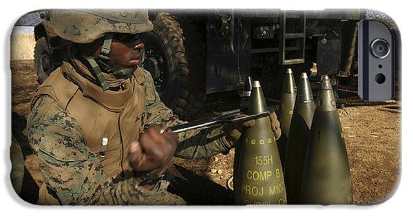 Fuse iPhone Cases - An Artilleryman Places A Fuse iPhone Case by Stocktrek Images