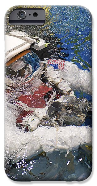An Astronaut Is Submerged In The Water iPhone Case by Stocktrek Images