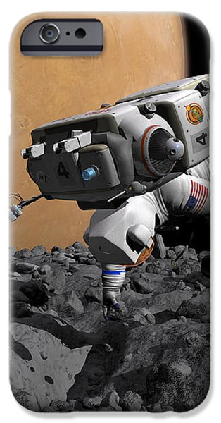 An Astronaut Makes First Human Contact iPhone Case by Walter Myers