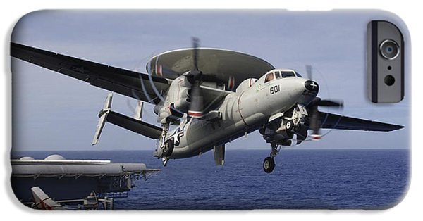 Electronic iPhone Cases - An E-2c Hawkeye Launches From Uss Kitty iPhone Case by Stocktrek Images