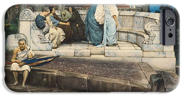 1871 iPhone Cases - An Exedra iPhone Case by Sir Lawrence Alma-Tadema