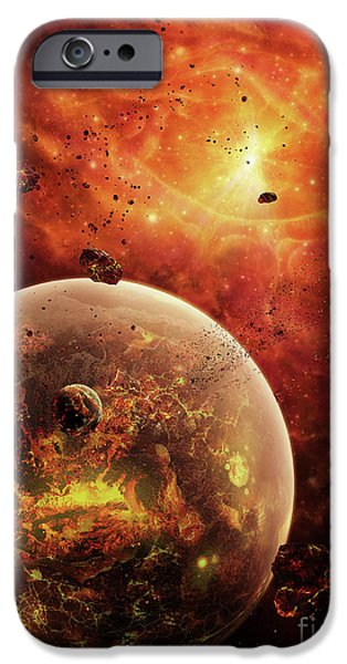 Stellar iPhone Cases - An Eye-shaped Nebula And Ring iPhone Case by Brian Christensen