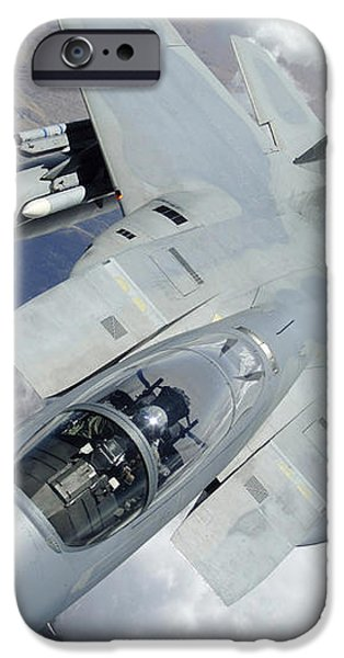 An F-15 Eagle Pulls Away From A Kc-135 iPhone Case by Stocktrek Images