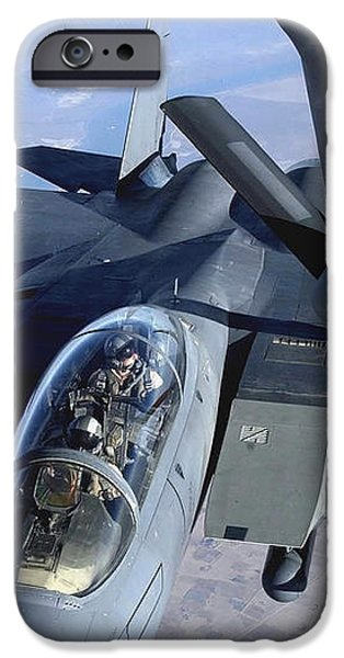 An F-15e Strike Eagle Refuels Over Iraq iPhone Case by Stocktrek Images