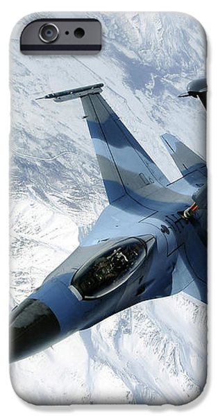 An F-16 Aggressor Sits In Contact iPhone Case by Stocktrek Images