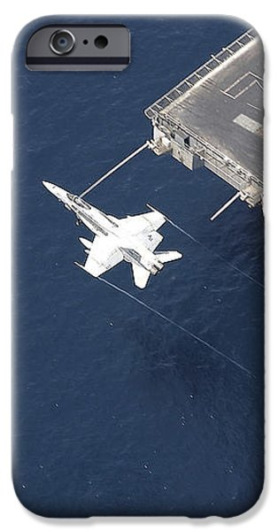 An Fa-18 Hornet Flys Over Aircraft iPhone Case by Stocktrek Images