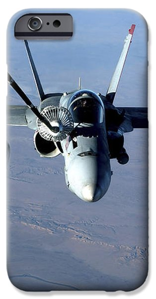 An Fa-18c Hornet Receives Fuel iPhone Case by Stocktrek Images