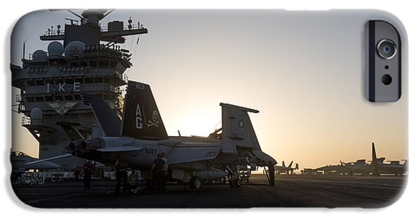 Flight iPhone Cases - An Fa-18f Super Hornet Is Inspected iPhone Case by Gert Kromhout