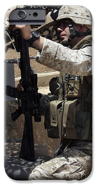An Infantryman Talks To His Marines iPhone Case by Stocktrek Images