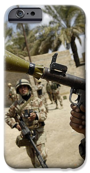 An Iraqi Army Soldier Provides Security iPhone Case by Stocktrek Images