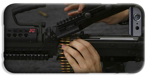 Recently Sold -  - Fed iPhone Cases - An M-249 Squad Automatic Weapons iPhone Case by Stocktrek Images