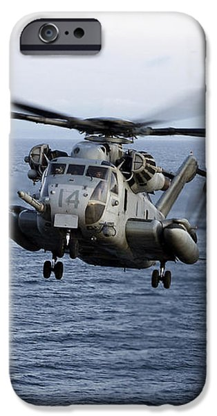 An Mh-53e Sea Dragon In Flight iPhone Case by Stocktrek Images