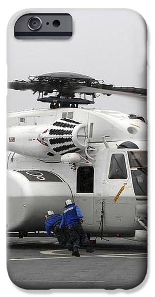 An Mh-53e Super Stallion Helicopter iPhone Case by Stocktrek Images