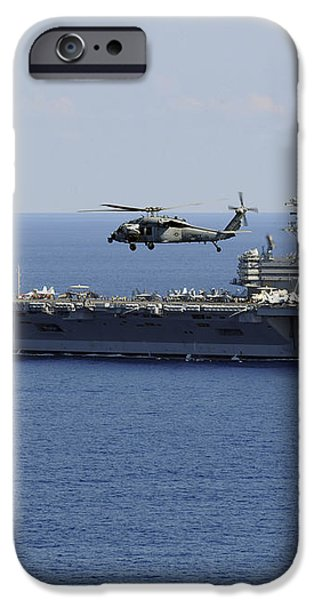 An Mh-60s Seahawk Helicopter Flies iPhone Case by Stocktrek Images