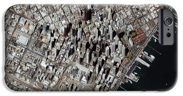 Bay Bridge iPhone Cases - An Oblique-angle View Of San Franciscos iPhone Case by Stocktrek Images