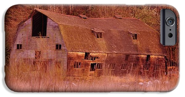Old Barns iPhone Cases - An Old Dairy Barn  iPhone Case by Jeff  Swan