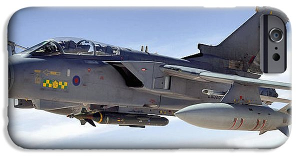 Mechanism iPhone Cases - An Raf Tornado Gr-4 Takes On Fuel iPhone Case by Stocktrek Images