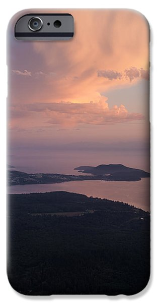 San Juan iPhone Cases - Anacortes Thunder iPhone Case by Mike Reid