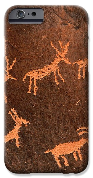 Ancient Indian Petroglyphs iPhone Case by Gary Whitton