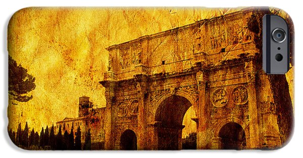 Buildings Mixed Media iPhone Cases - Ancient Rome iPhone Case by Stefano Senise