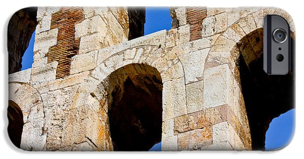 Athens Ruins iPhone Cases - Ancient Windows iPhone Case by Anthony Doudt
