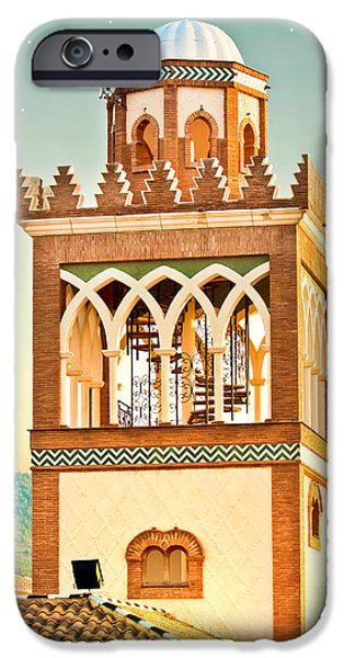 Moroccan iPhone Cases - Andalucian minaret iPhone Case by Tom Gowanlock
