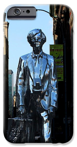 Union Square iPhone Cases - Andy Warhol New York iPhone Case by Andrew Fare