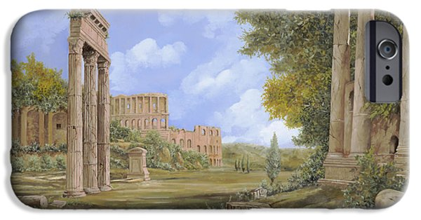 Ancient Paintings iPhone Cases - Anfiteatro Romano iPhone Case by Guido Borelli