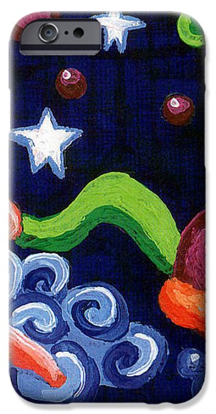 Angel Spinning Saturn iPhone Case by Genevieve Esson