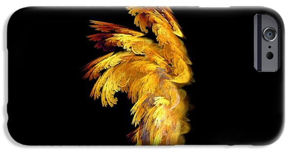 Seraphim Angel iPhone Cases - Angel Wings 1 iPhone Case by Kim Sy Ok