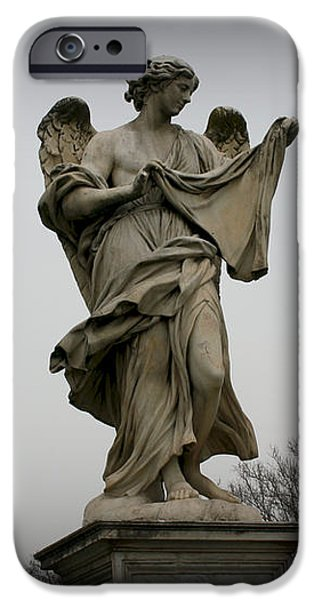 Angel with the Sudarium iPhone Case by Kevin Flynn