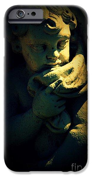 Statue Portrait iPhone Cases - Angela iPhone Case by Susanne Van Hulst