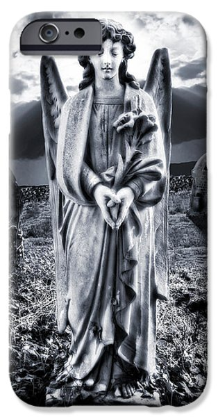 Angel Blues iPhone Cases - Angelic Light iPhone Case by Meirion Matthias