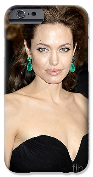 Angelina Jolie iPhone Case by Nina Prommer