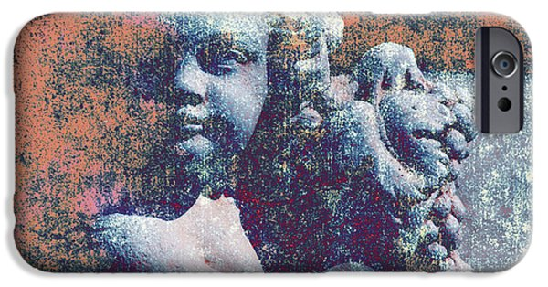 Statue Portrait iPhone Cases - Angelina iPhone Case by Susanne Van Hulst