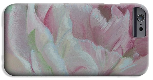 Pink Pastels iPhone Cases - Angelique iPhone Case by Marie-Claire Dole