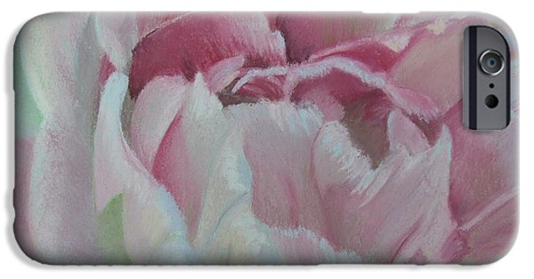 Close Pastels iPhone Cases - Angelique iPhone Case by Marie-Claire Dole