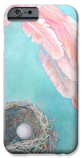 Concept Paintings iPhone Cases - Angels Nest iPhone Case by Ana Maria Edulescu