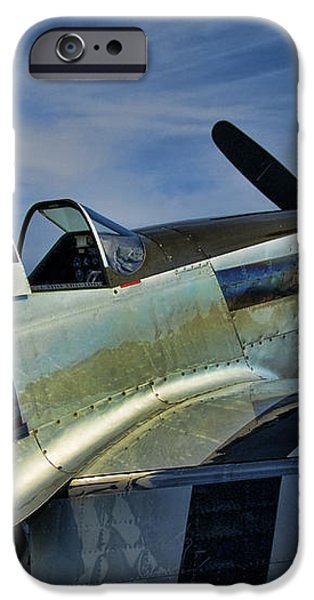 Angels Playmate P-51 iPhone Case by Steven Richardson