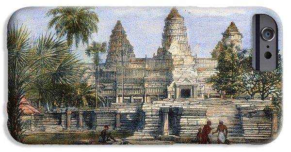 Recently Sold -  - Buddhism iPhone Cases - Angkor Wat, 1868 iPhone Case by Granger