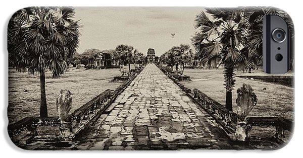 Historic Site iPhone Cases - Angkor Wat Causeway iPhone Case by Kate McKenna