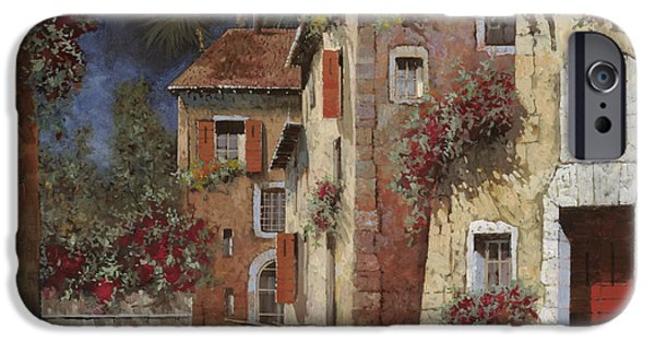 Basket iPhone Cases - Angolo Buio iPhone Case by Guido Borelli
