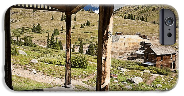 Rural Decay Digital Art iPhone Cases - Animas Forks Drybrush iPhone Case by Melany Sarafis