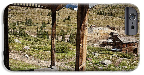 Rural Decay Digital Art iPhone Cases - Animas Forks Mosiac iPhone Case by Melany Sarafis
