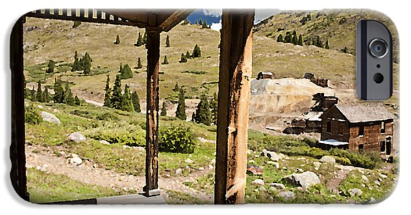 Rural Decay Digital Art iPhone Cases - Animas Forks Palette iPhone Case by Melany Sarafis
