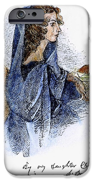 ANN BRONTE (1820-1849) iPhone Case by Granger