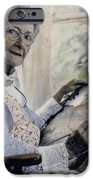 Recently Sold -  - 1950s Portraits iPhone Cases - Anna Mary Robertson iPhone Case by Granger