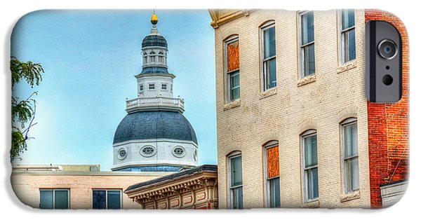 Annapolis Maryland iPhone Cases - Annapolis Duomo iPhone Case by Debbi Granruth