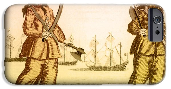 Pirate Drawing iPhone Cases - Anne Bonny And Mary Read, 18th Century iPhone Case by Photo Researchers